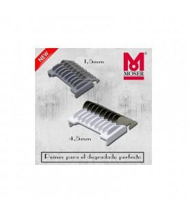 Peine separador 1,5 y 4,5mm metálico. Pack 2u Moser