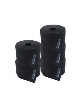 Papel cuello Barber Line Negro (5 rollos)