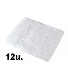 12u. Toalla 100% algodón 40x80cm 380grs/m2 Blanca