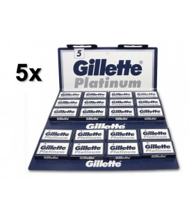 Hojas Gillette Platinum, pack 5 x 100u.