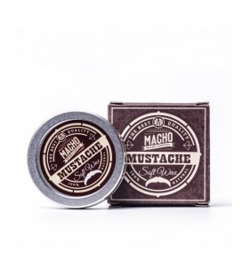 Macho mustache soft wax 15ml. - Cera suave natural para bigote Macho Beard Company