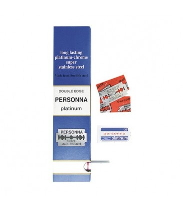 Hojas Personna platinum, caja 200u.