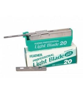 Hojas Feather professional Light Blade, caja 20u.